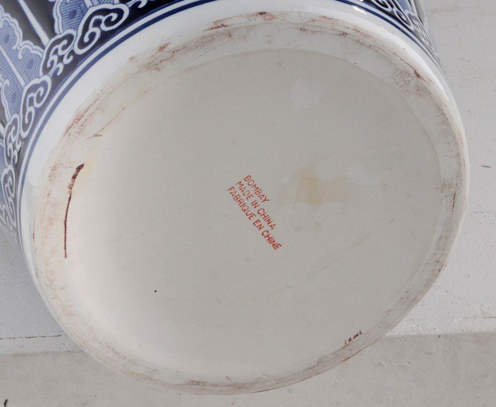 Large Porcelain Blue and White Vase on - 2