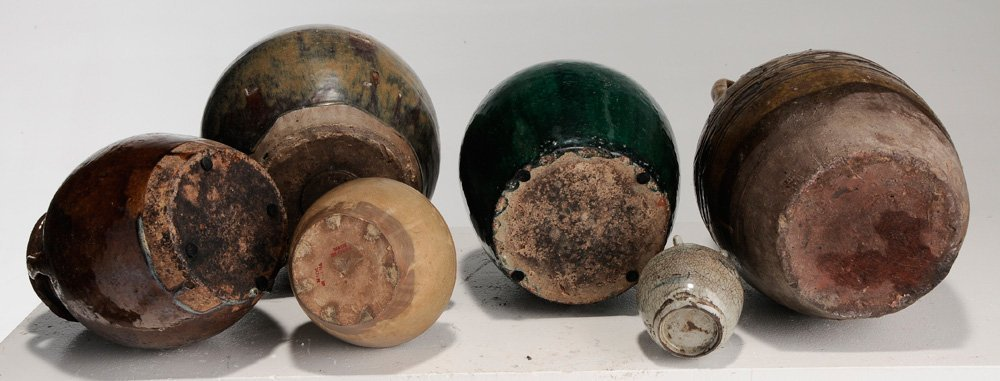Six Provincial Stoneware Jars and Five - 5