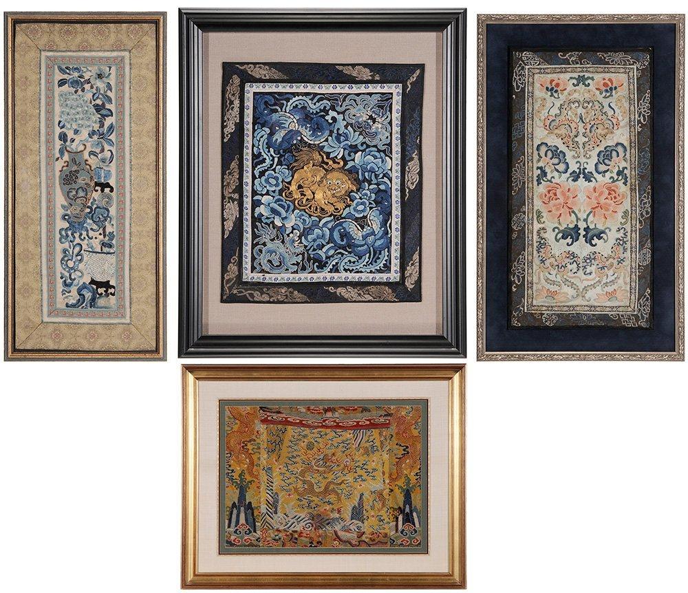 Four Framed Fabrics