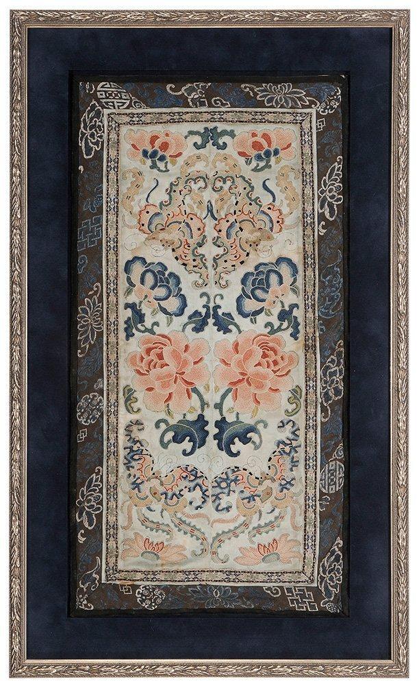Four Framed Fabrics - 2