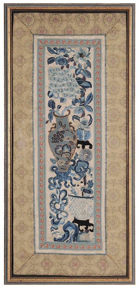 Four Framed Fabrics - 3