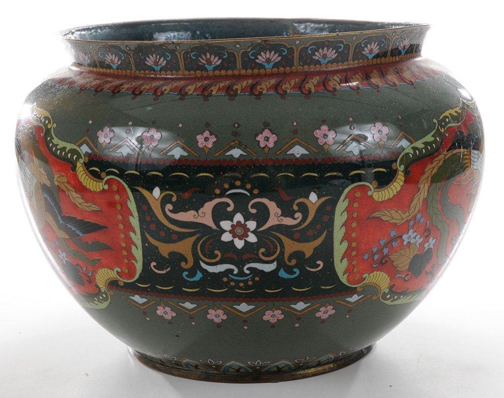 Japanese Cloisonné Jardinière with - 3