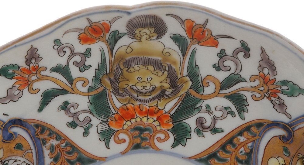 Six Imari Porcelain Deep Plates with - 2