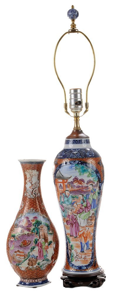 Two Chinese Export Porcelain Vases,