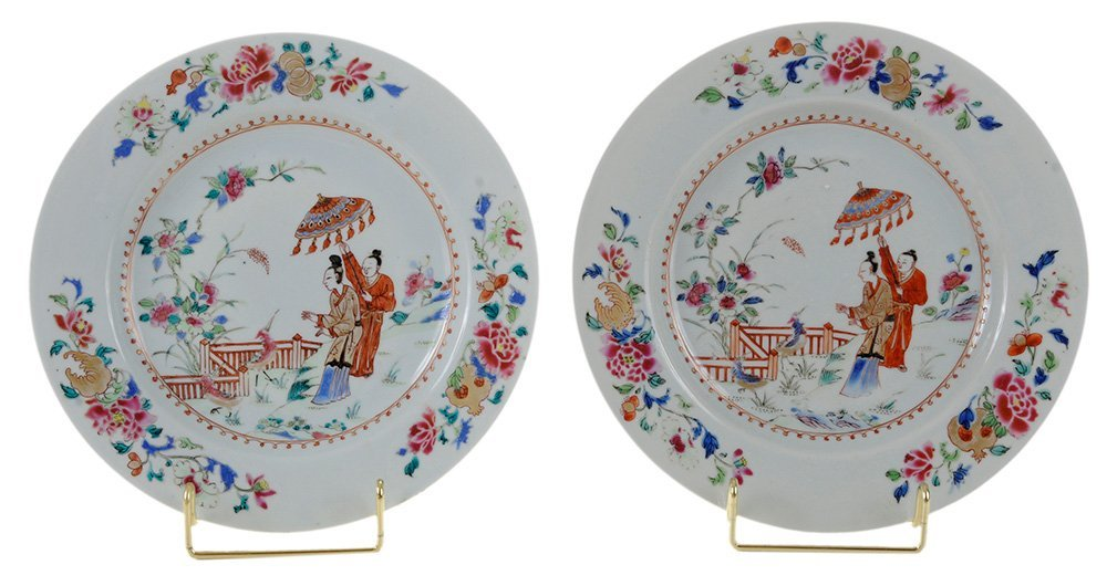 Pair Chinese Export Porcelain