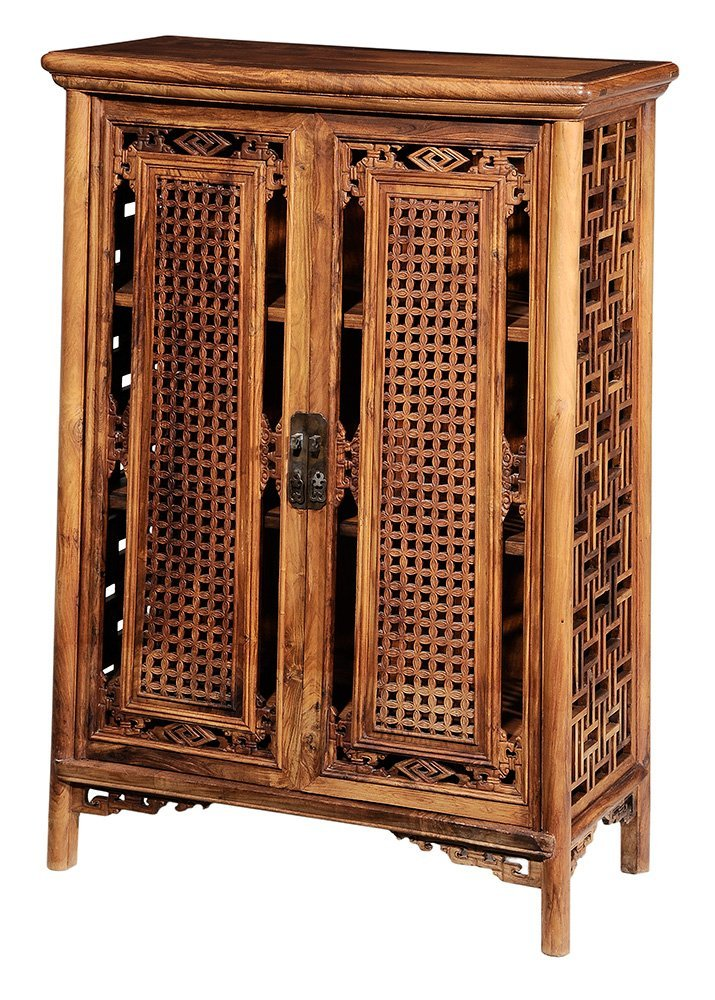 Chinese Carved Figured Hardwood