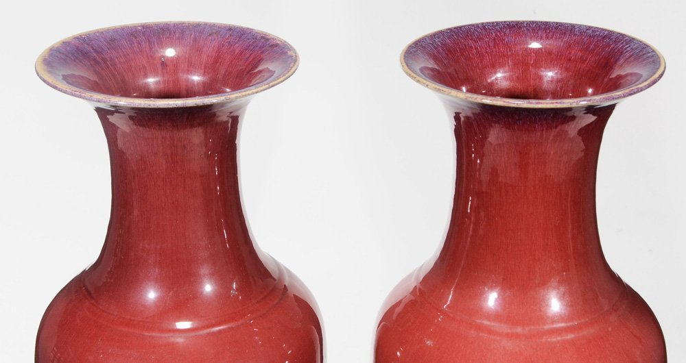 Pair Large Flambé-Glazed Porcelain - 4