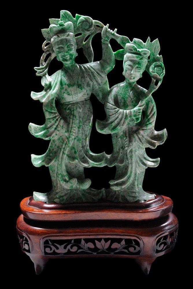 Carved Jade Flower Goddess and