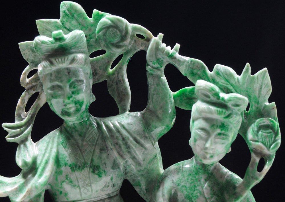 Carved Jade Flower Goddess and - 3