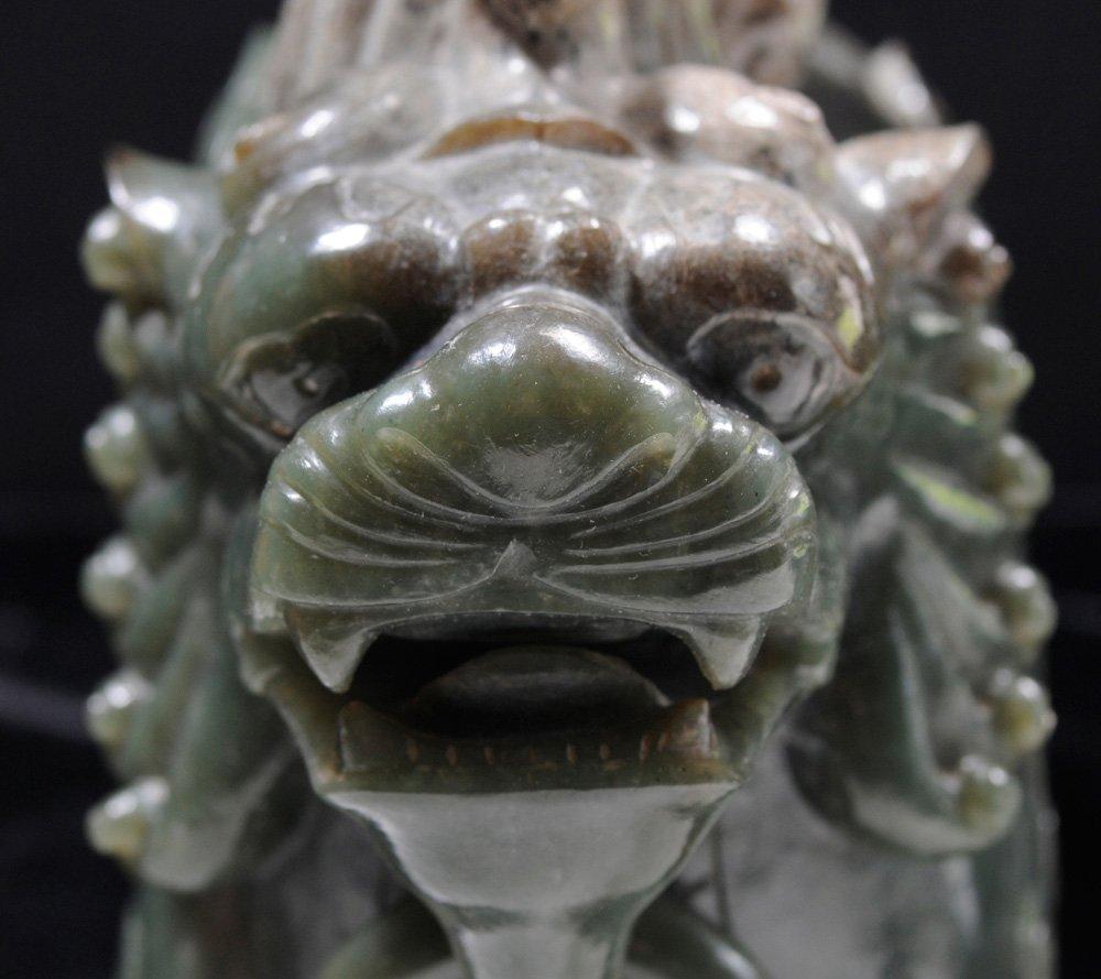 Carved Jade Horned Beast - 5