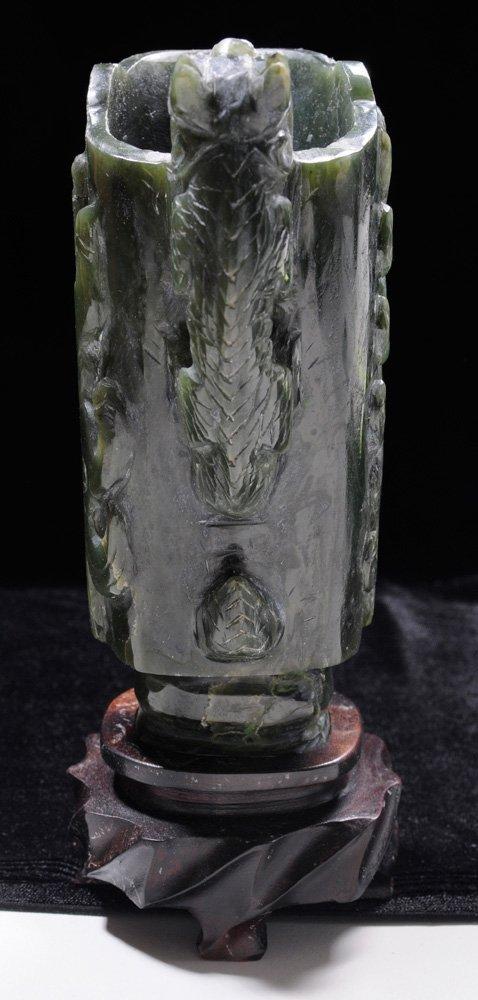 Carved Jade Dragon Libation Cup - 2