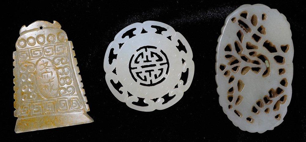 Three Jade Plaques, a Fish-Form [Bi] - 2
