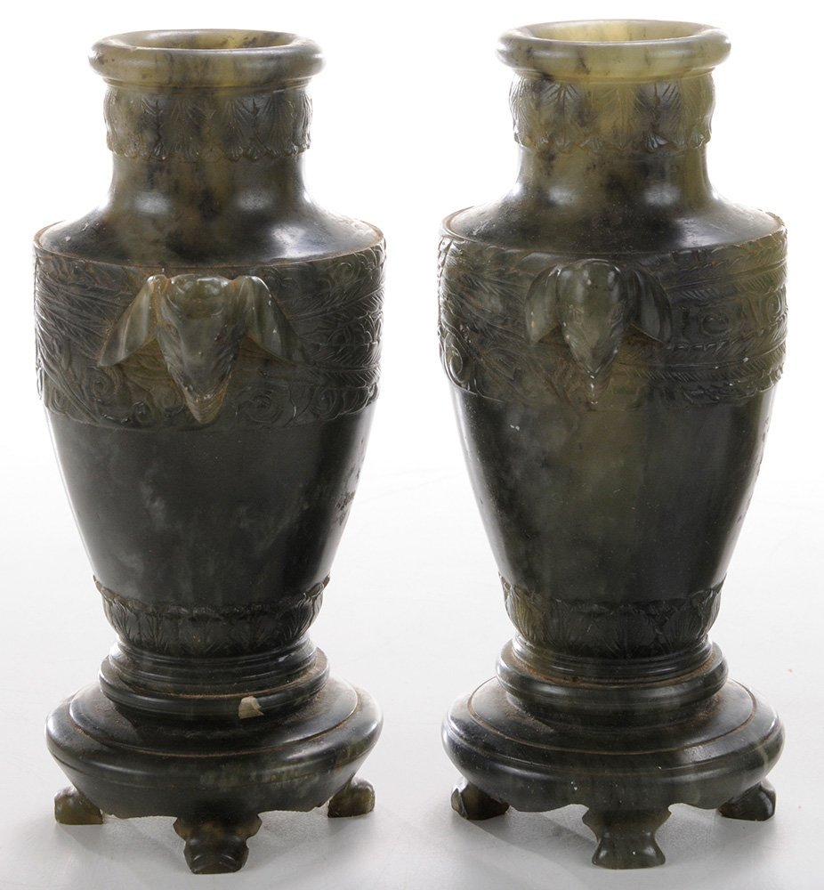 Eight Chinese Carved Hardstone - 6