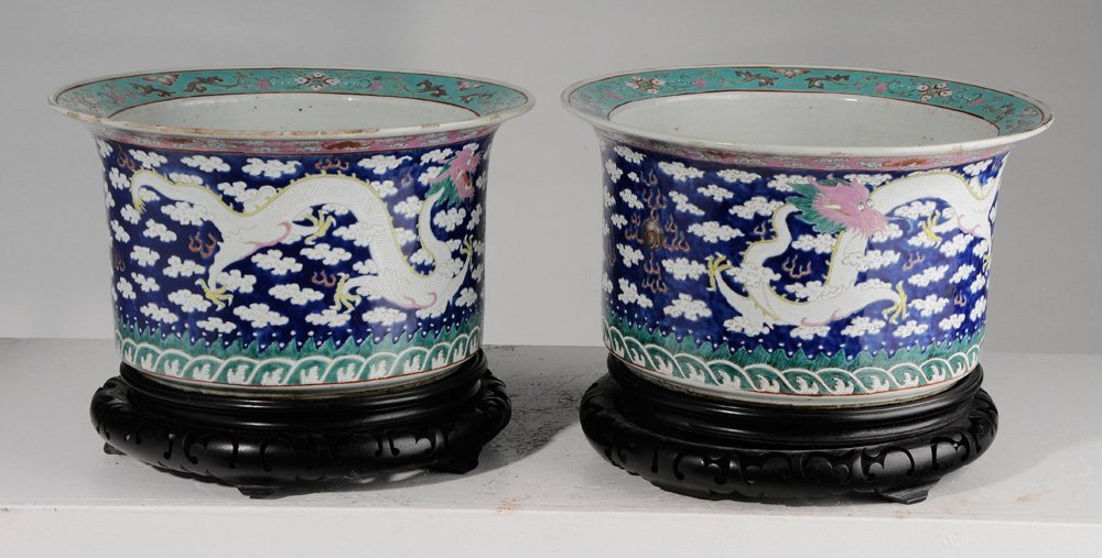 Pair of Large Chinese Famille Rose - 4