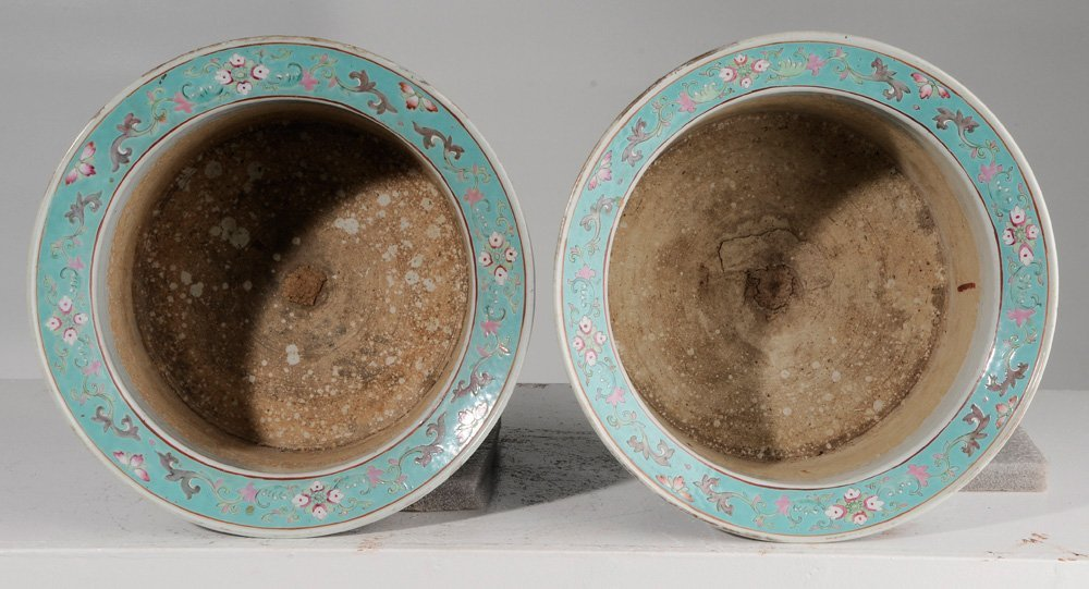 Pair of Large Chinese Famille Rose - 6