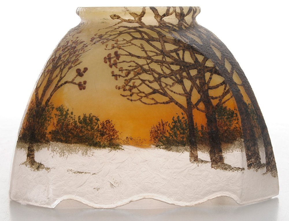 Small Handel Shade Painted with Winter - 3