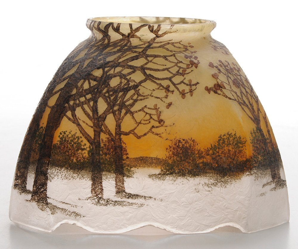 Small Handel Shade Painted with Winter - 5