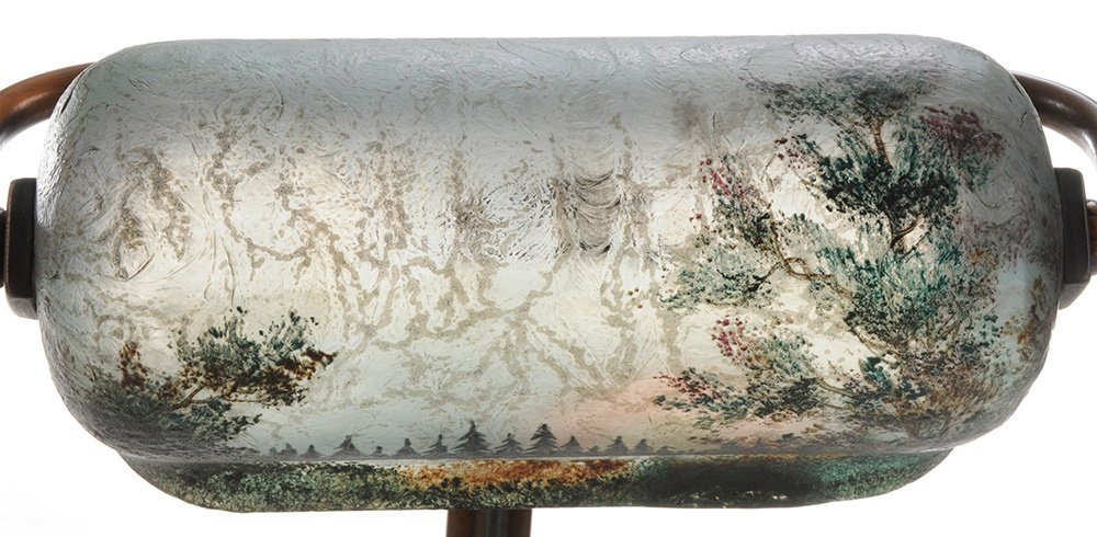 Handel Piano Lamp with Obverse Painted - 4