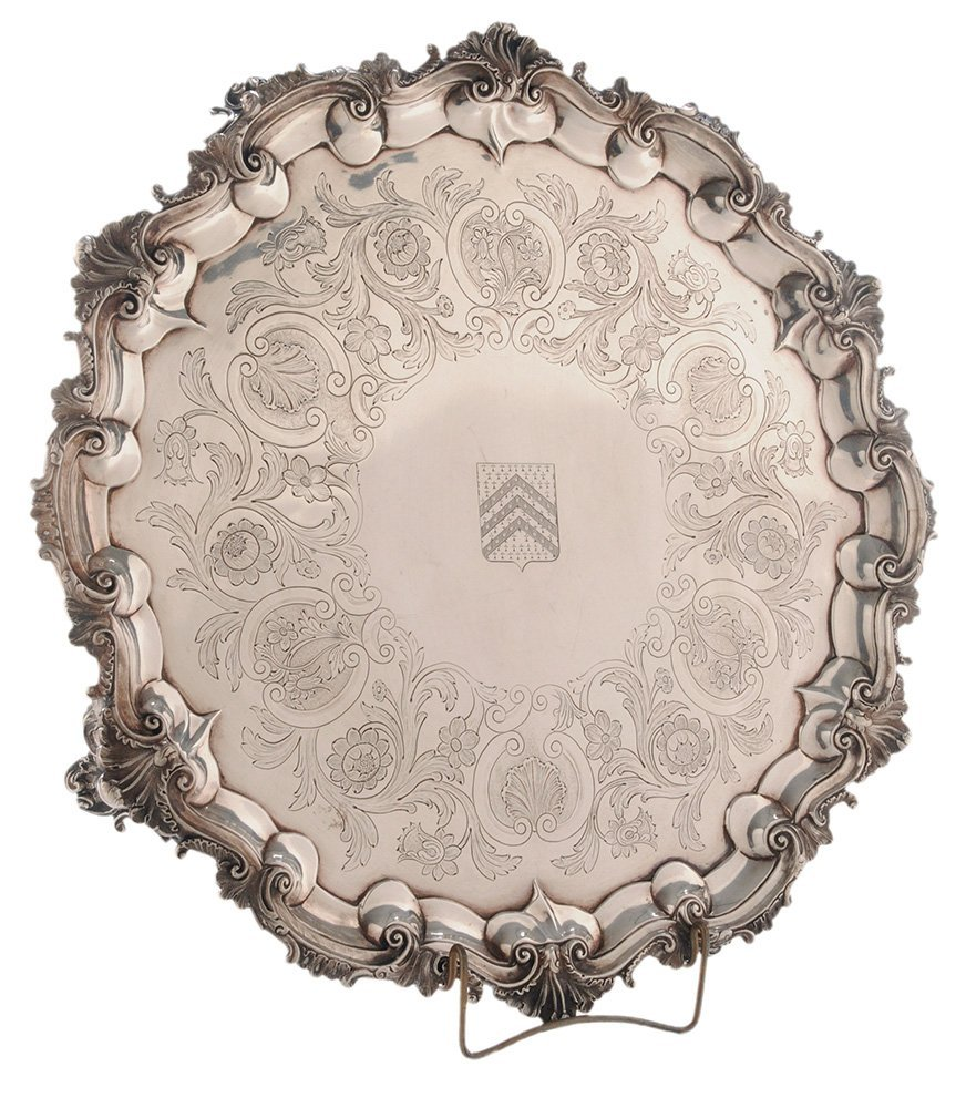 Large English Silver Salver