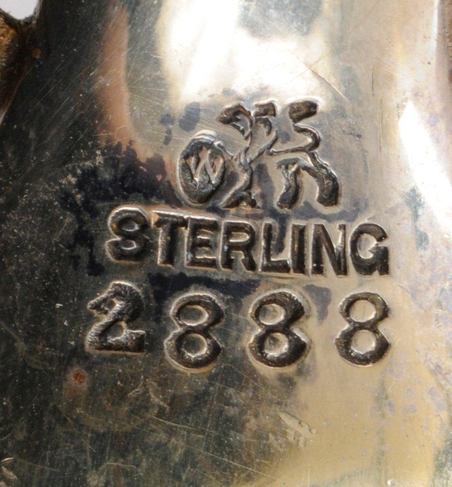Whiting Ivory Gilt Sterling Salad Set - 3