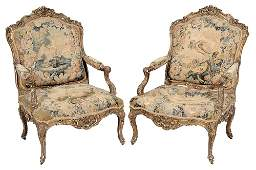 Very Fine Pair Louis XV Style Gilt