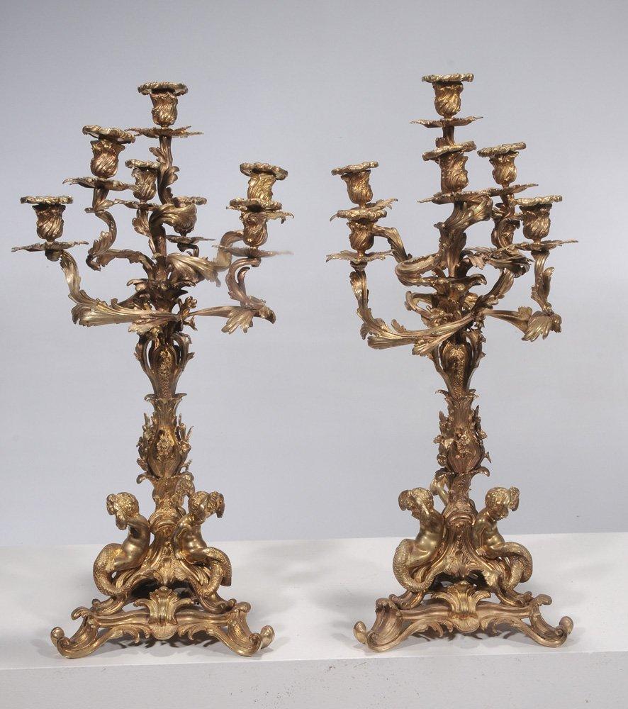Pair Louis XV-Style Gilt-Bronze - 2