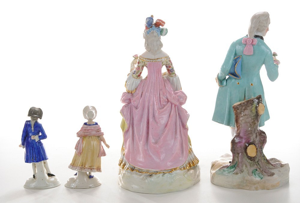 Two Pair Continental Porcelain Figures - 3