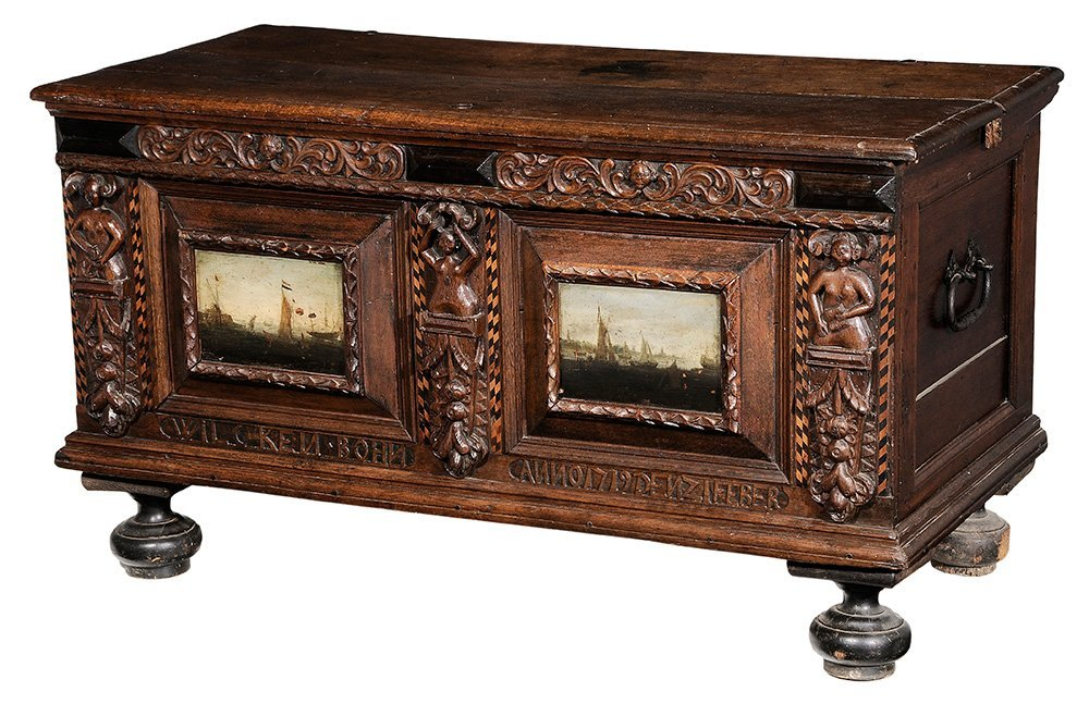 Continental Baroque Carved Oak and