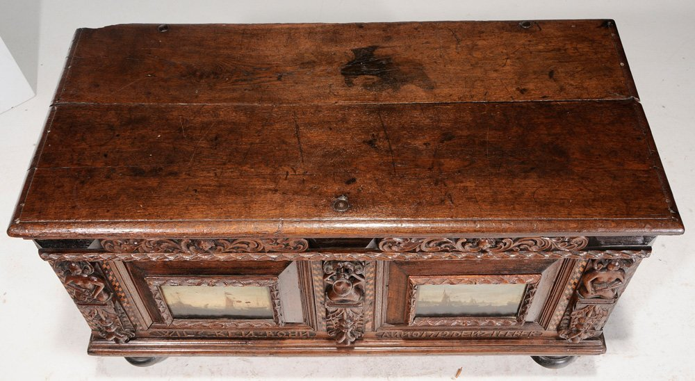 Continental Baroque Carved Oak and - 2