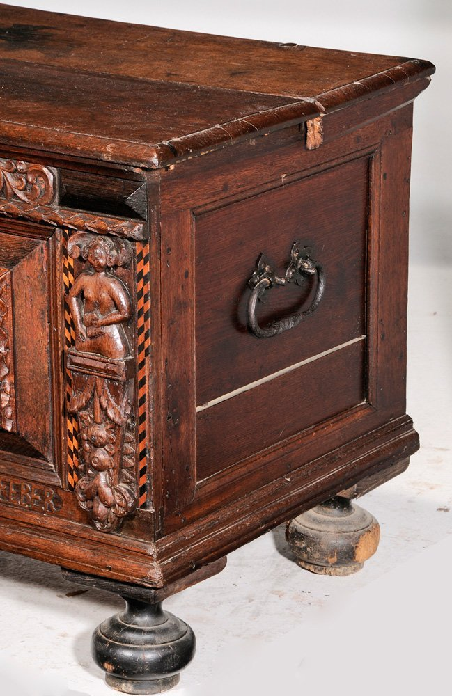Continental Baroque Carved Oak and - 3