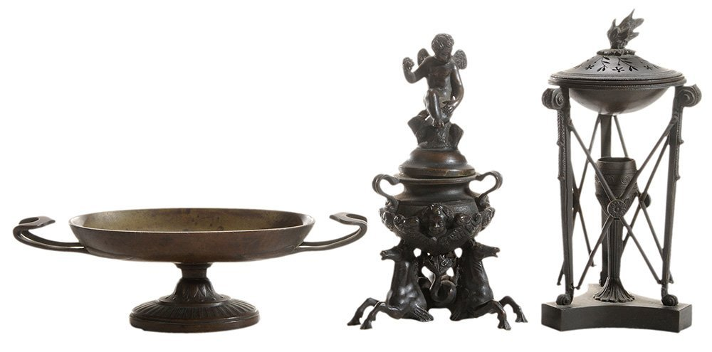 Two Grand Tour Bronze Censers, and a