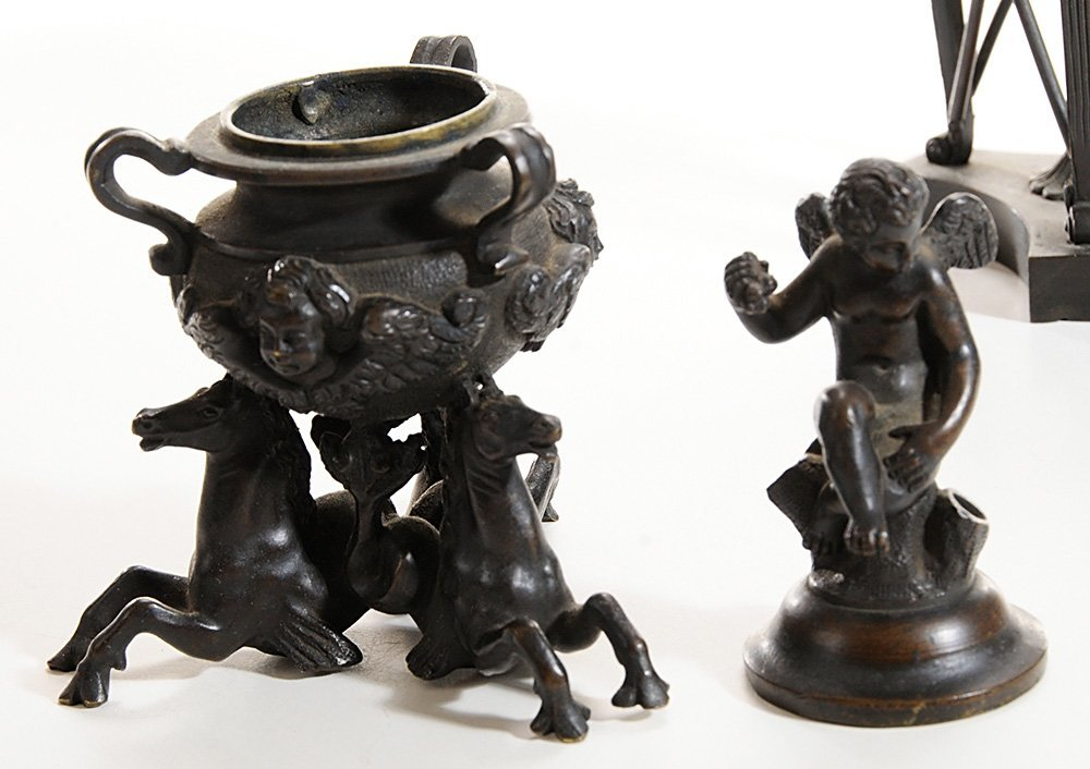 Two Grand Tour Bronze Censers, and a - 4