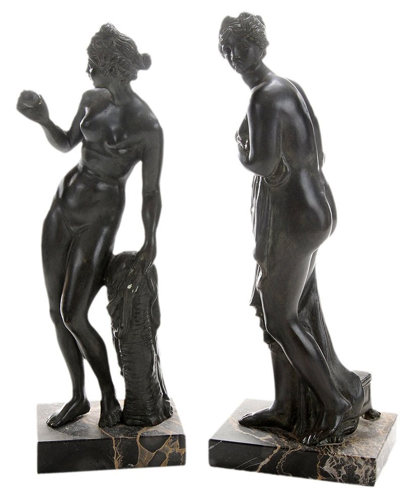 Two Grand Tour Bronze Figures of