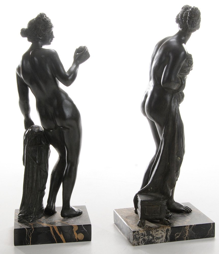 Two Grand Tour Bronze Figures of - 2