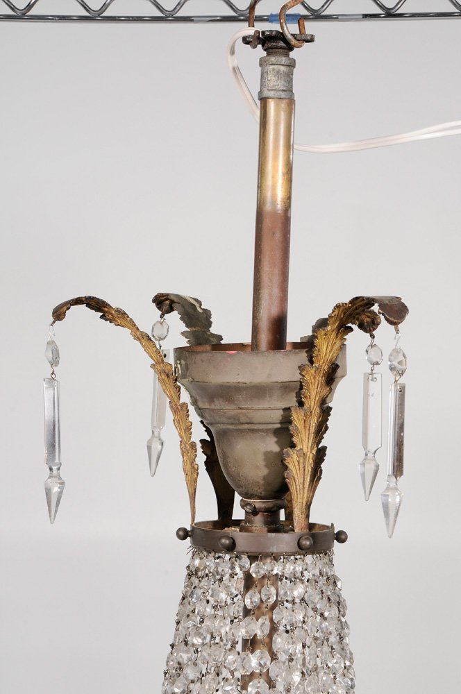 Two Similar Gilt Brass and Crystal - 6