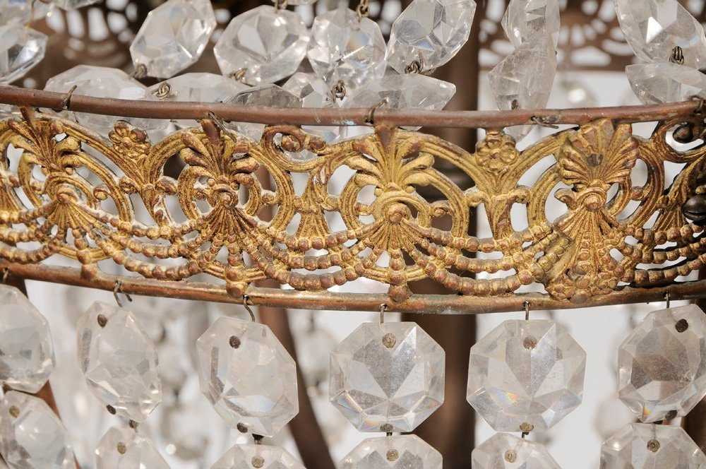 Two Similar Gilt Brass and Crystal - 9