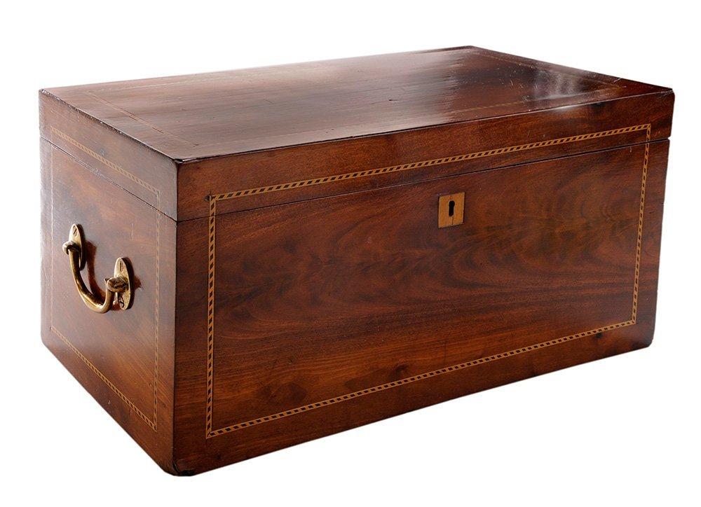 English Mahogany Jewelry Box with