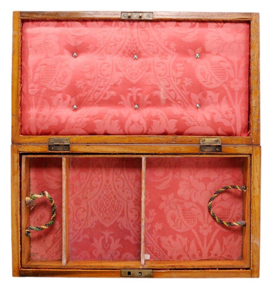 English Mahogany Jewelry Box with - 2