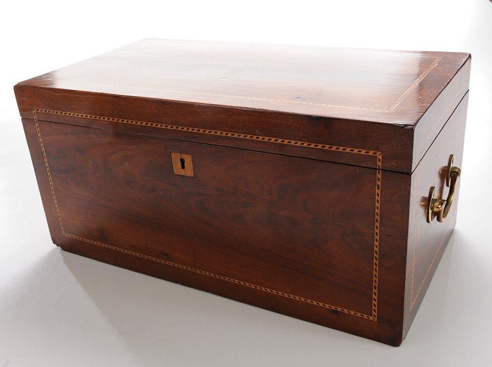 English Mahogany Jewelry Box with - 3