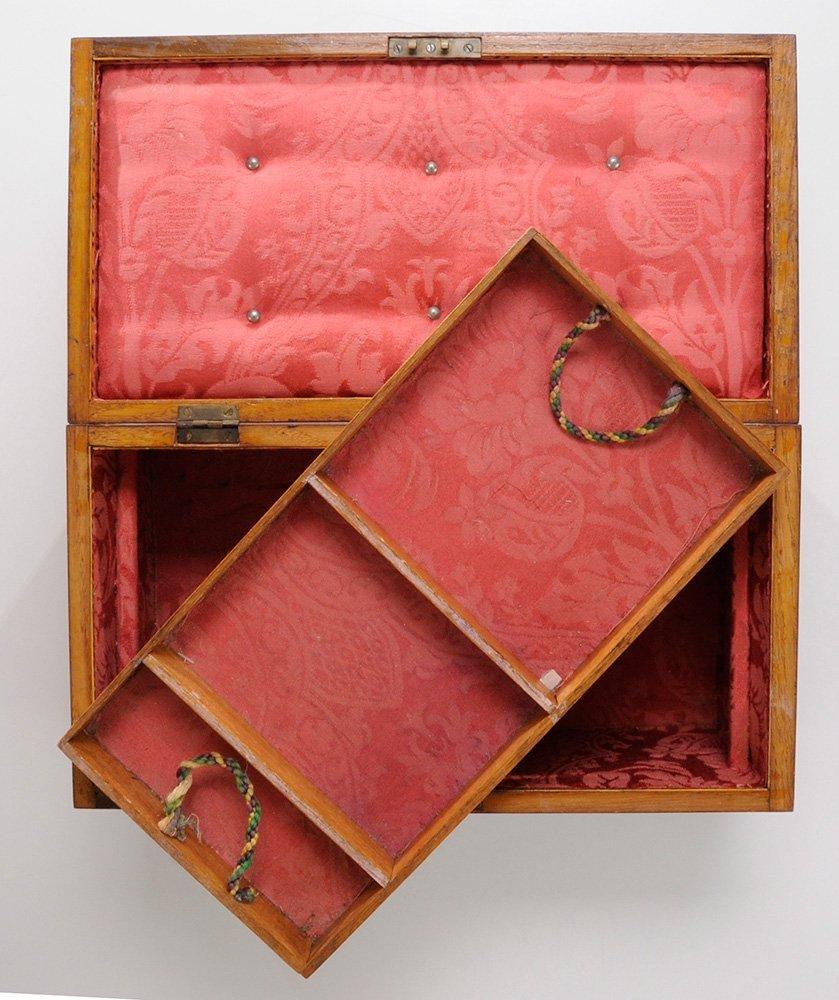 English Mahogany Jewelry Box with - 4