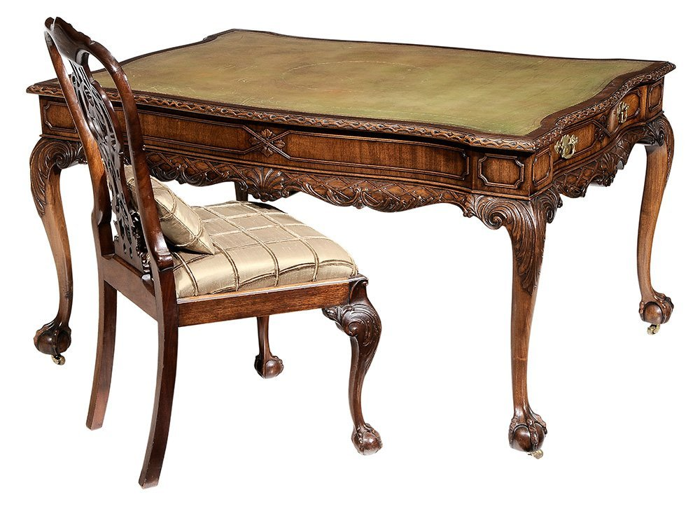 Chippendale Style Carved Mahogany