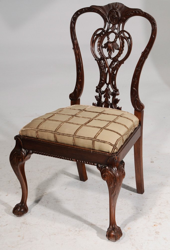 Chippendale Style Carved Mahogany - 6
