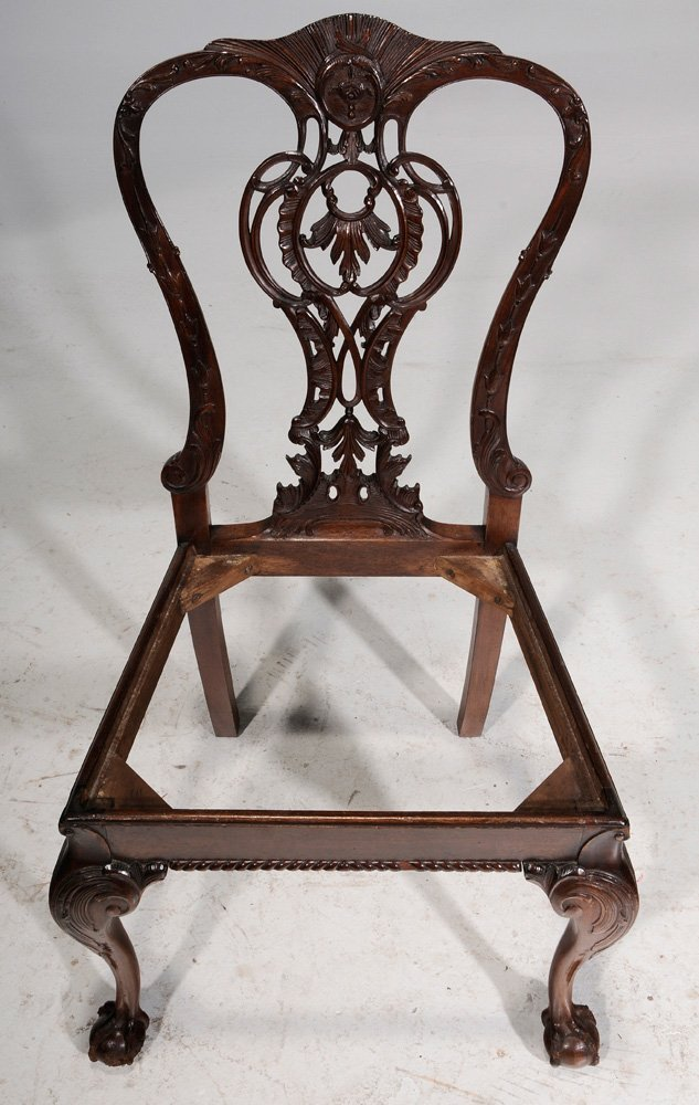 Chippendale Style Carved Mahogany - 7