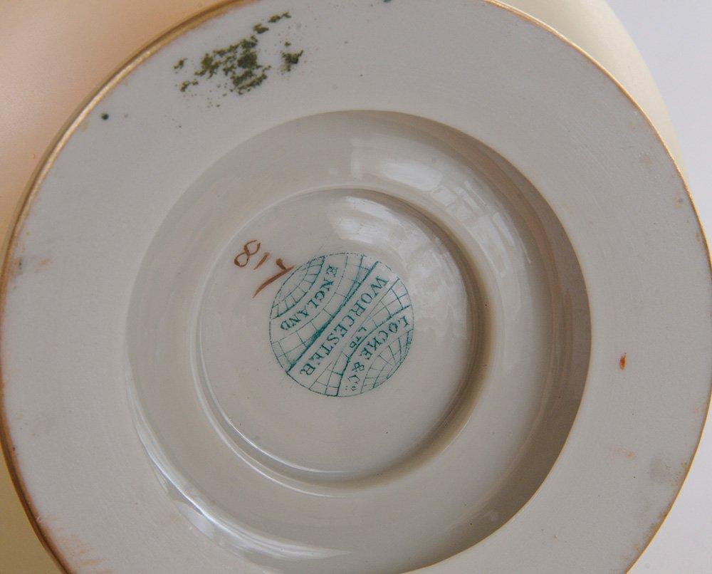 Pair Worcester Porcelain Painted Vases - 6