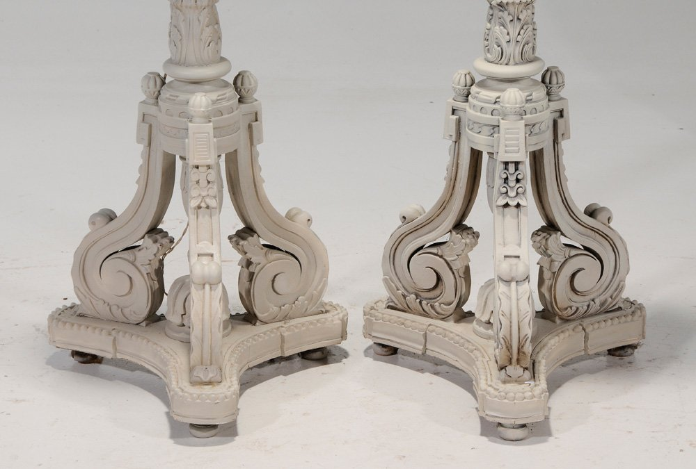 Pair Adam Style White-Painted - 3