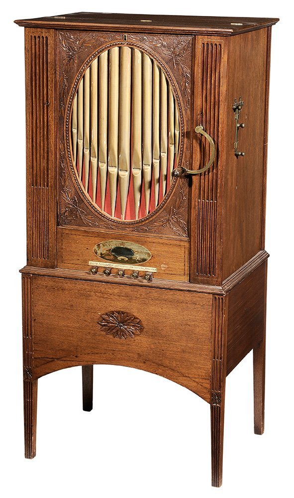 Georgian Mahogany Barrel Organ