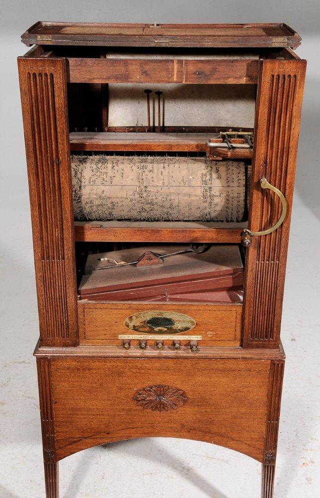 Georgian Mahogany Barrel Organ - 4
