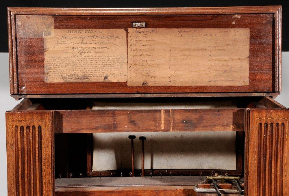 Georgian Mahogany Barrel Organ - 7