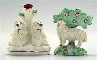 Two Staffordshire animals