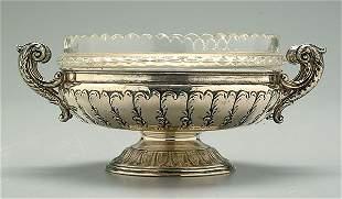 Silver center bowl,